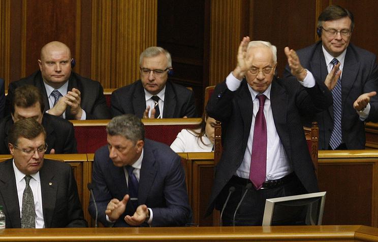Премьер-министр Украины Николай Азаров на заседании Верховной Рады Украины