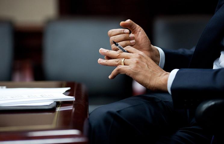 Барак Обама в рабочем кабинете в Белом доме