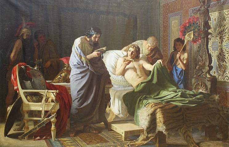 "Картина ""Доверие Александра Македонского к врачу Филиппу"" (1870)"