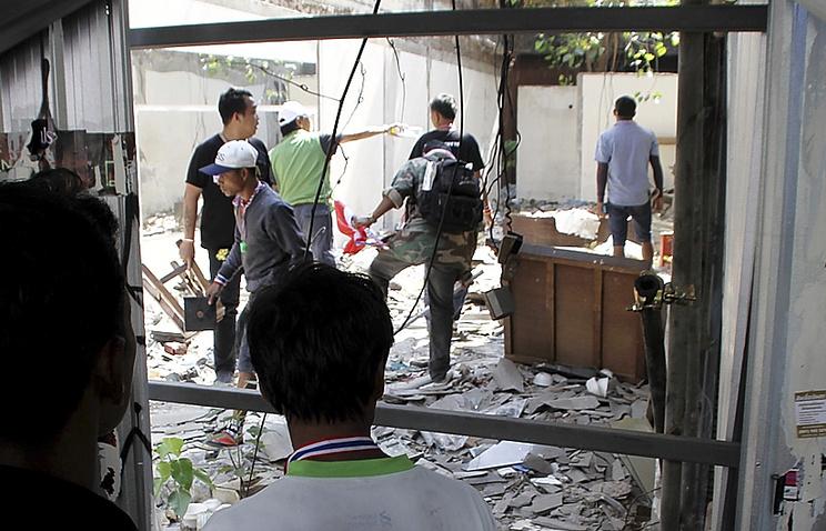 Место взрыва в Бангкоке