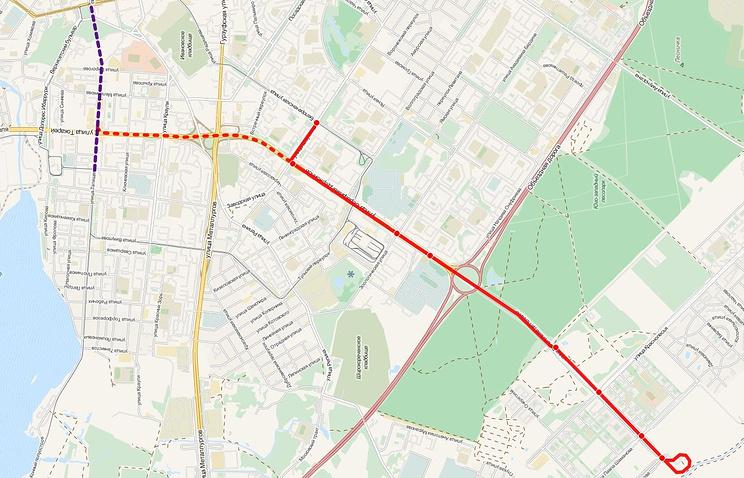 Трамвайный маршрут