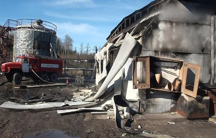 Последствия взрыва на Приобском нефтяном месторождении