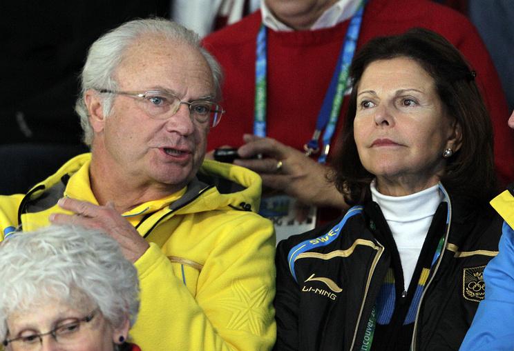 Король Карл XVI Густав с супругой Сильвией на Олимпиаде в Ванкувере