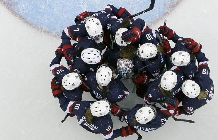 Женская сборная США после победы