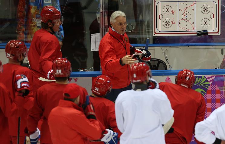 Тренировка сборной России по хоккею в Сочи