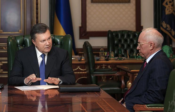 Президент Украины Виктор Янукович и спикер Верховной Рады Владимир Рыбак