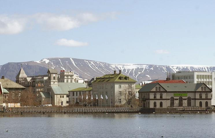 Вид на Рейкьявик, столицу Исландии