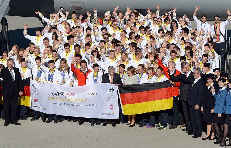 Олимпийская сборная Германии вернулась из Сочи в Мюнхен