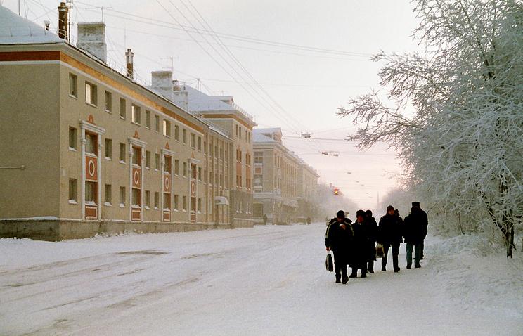 Улица Московская в Воркуте