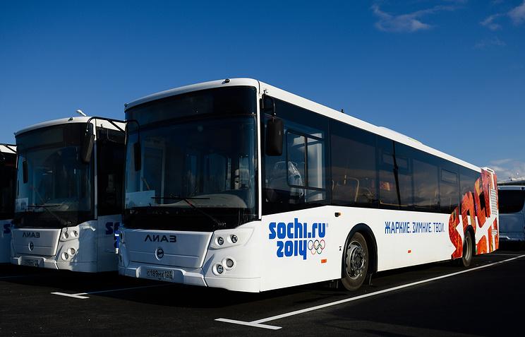 Автобусы с символикой Сочи-2014