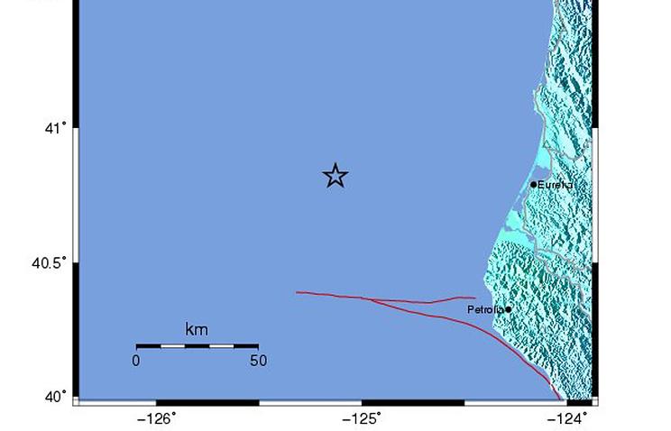 """""""Карта землетрясений"""" Геологической службы США"""