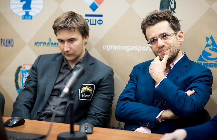 Сергей Карякин и Левон Аронян