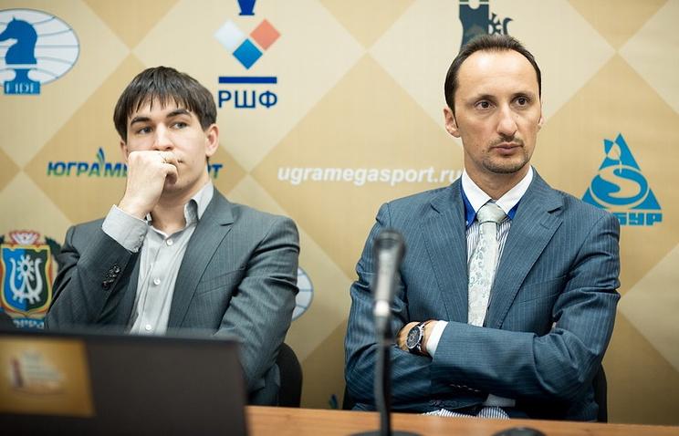 Дмитрий Андрейкин и Веселин Топалов