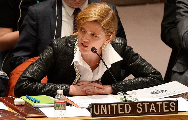 Постоянный председатель США при ООН Саманта Пауэр