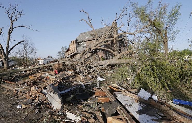 Последствия торнадо в штате Канзас