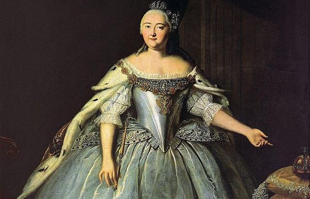 Елизавета Петровна, картина художника Ивана Вешнякова, 1743 год