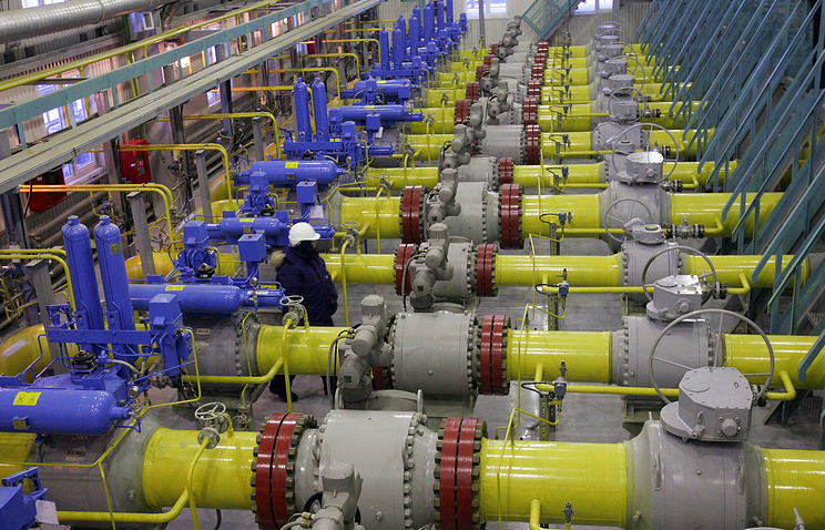 В производственном помещении на Южно-Русском газоконденсатном месторождении в Новом Уренгое. Тюменская область