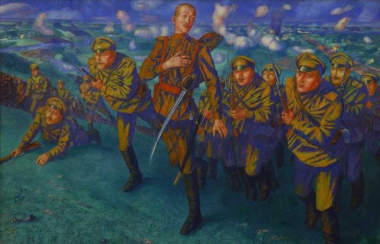 К.С. Петров-Водкин. На линии огня. 1916