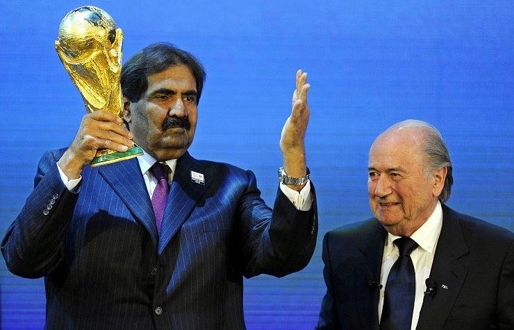 Эмир Катара Хамад бин Халифа Аль Тани и президент ФИФА Йозеф Блаттер