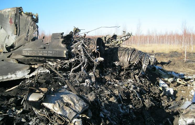 На месте крушения Су-24М недалеко от аэродрома Шагол. Октябрь 2012 года