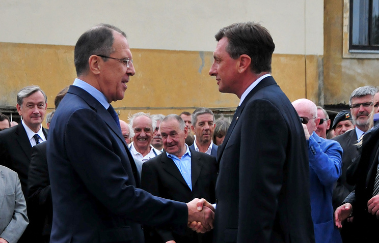 Сергей Лавров и Борут Пахор (слева направо)