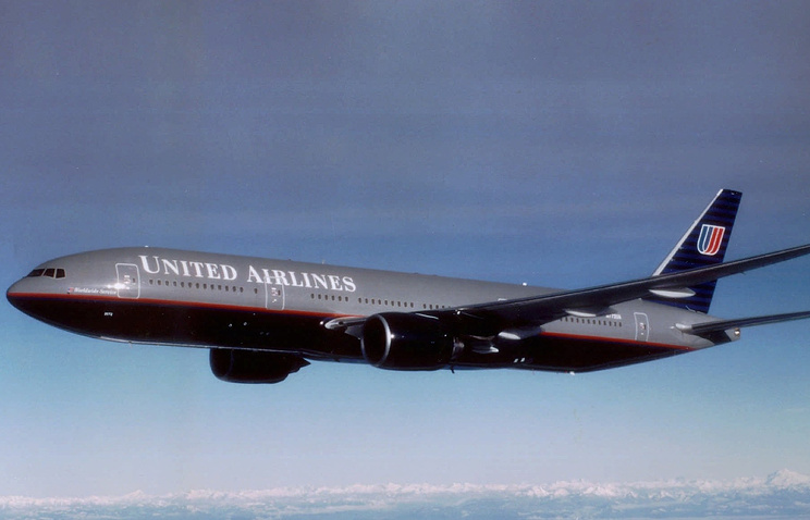 Boeing-777  авиакомпании United Airlines