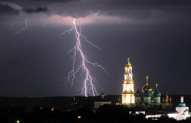 Гроза в Сергиевом Посаде, июль 2014 год