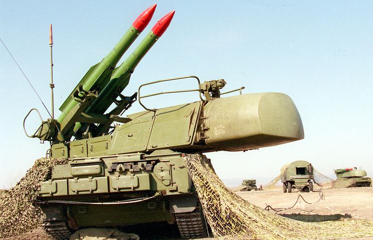 """Зенитно-ракетный комплекс """"Бук"""", архивное фото, 1997 год"""