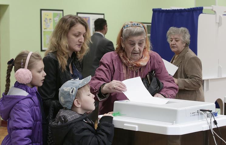 Голосование на избирательном участке