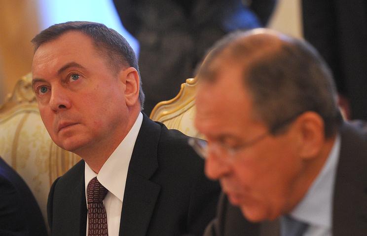 Министр иностранных дел Белоруссии Владимир Макей и министр иностранных дел РФ Сергей Лавров