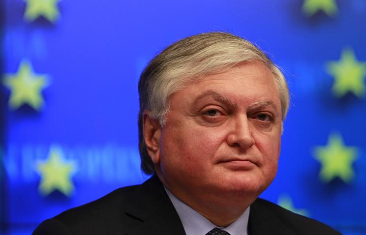Глава МИД Армении Эдвард Налбандян
