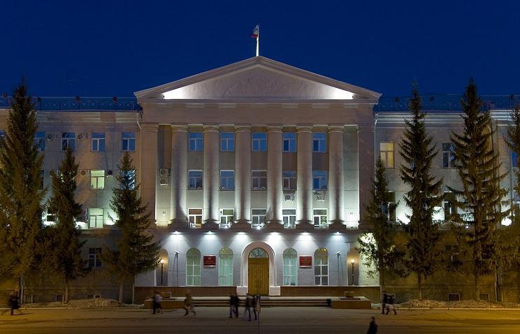 Курган. Вид на здание областной администрации