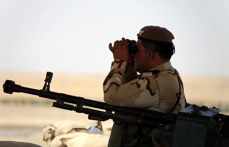 Курдский офицер пешмерга в Ираке