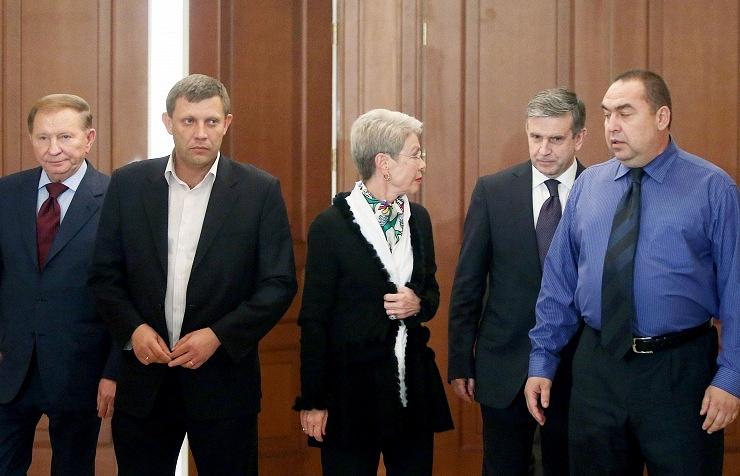Участники контактной группы по урегулированию ситуации на востоке Украины. 5 сентября 2014 года