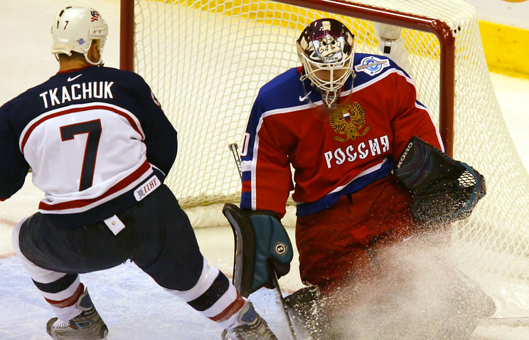 Матч Кубка мира-2004 между сборными России и США