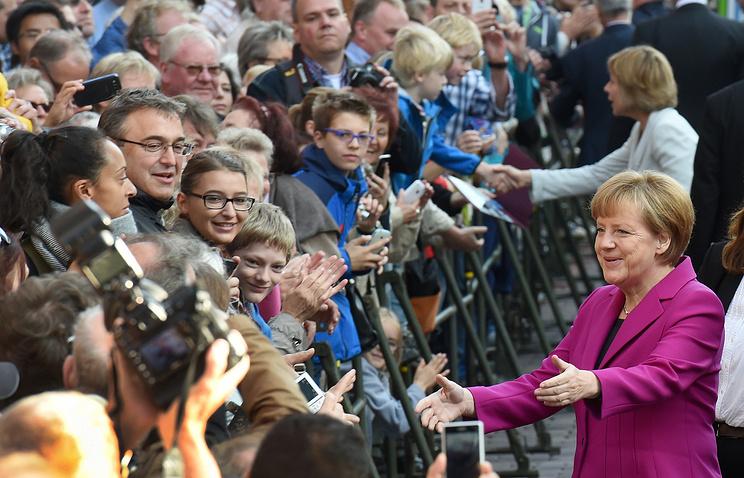 Ангела Меркель в Ганновере