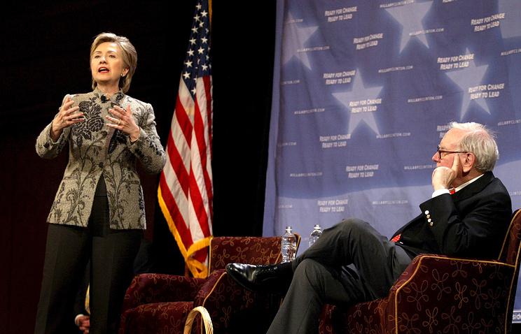 Хиллари Клинтон и Уоррен Баффет