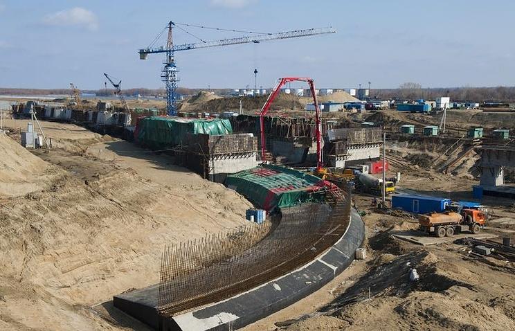 Строительство Красногорского гидроузла
