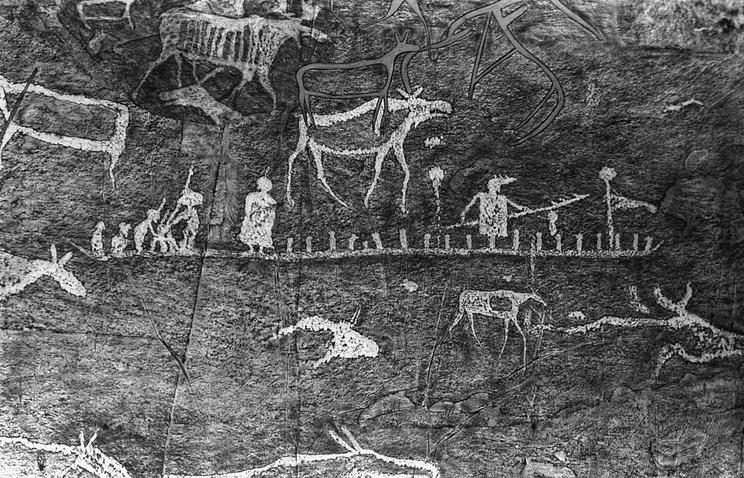 Древние наскальные рисунки в Сибири