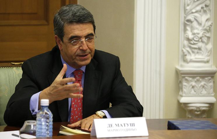 Чрезвычайный и полномочный посол Португальской Республики в РФ Марио Годиньо де Матуша