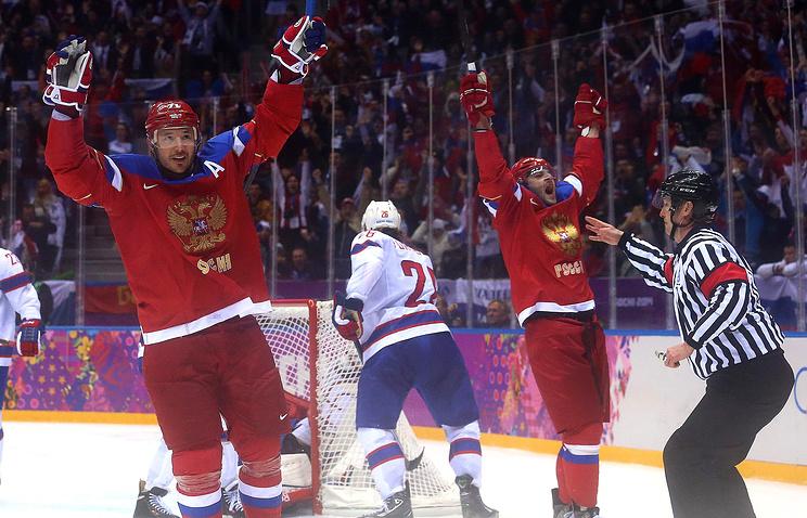 Илья Ковальчук и Александр Радулов в составе сборной России