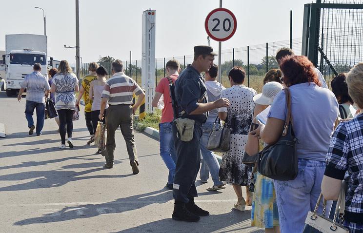 Август 2014 года. Беженцы с юго-востока Украины на российско-украинской границе