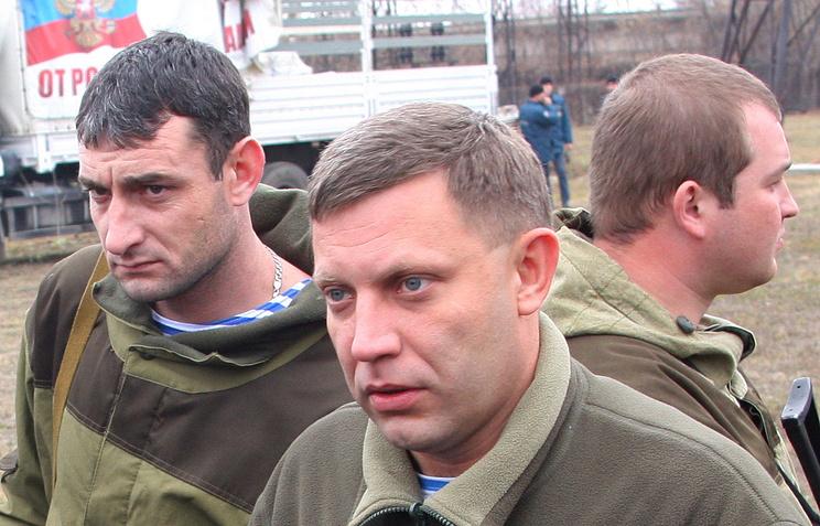 Александр Захарченко (в центре)