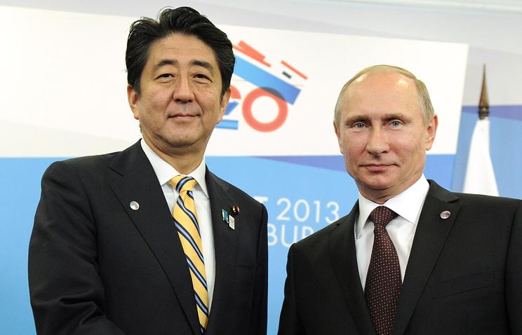 Премьер-министр Японии Синдзо Абэ и президент РФ Владимир Путин во время встречи в рамках саммита G20, 2013 год