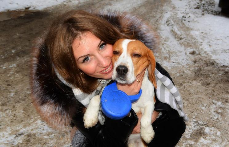 Анастасия Малинчева и пес Бас