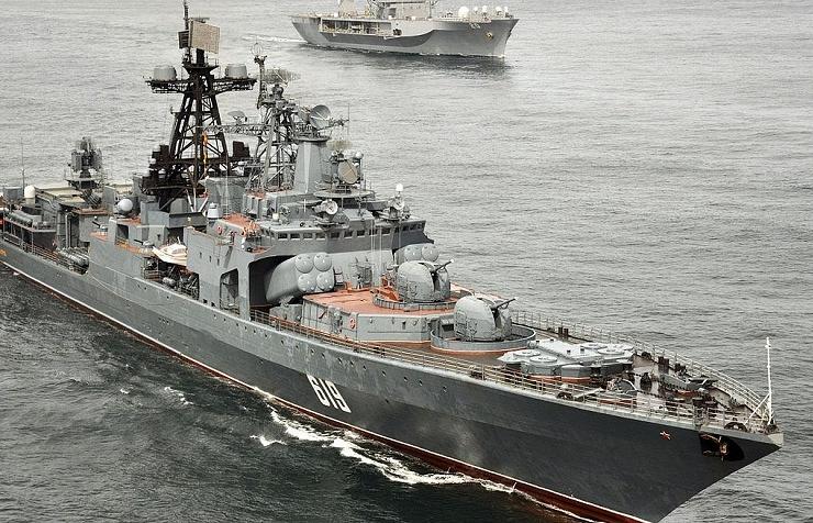 """БПК """"Североморск"""" во время совместных российско-американских учений"""