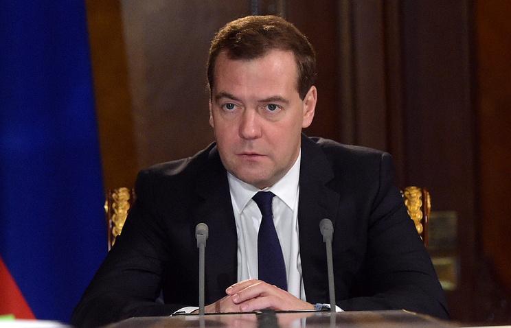 Премьер-министр России Дмитрий Медведев  Александр Астафьев/пресс-служба правительства РФ/ТАСС