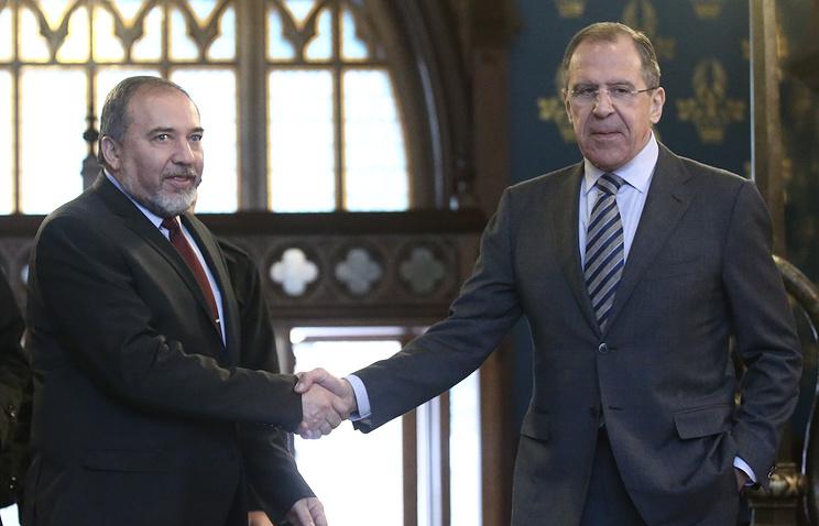 Встреча министров иностранных дел России С.Лаврова и Израиля А.Либермана