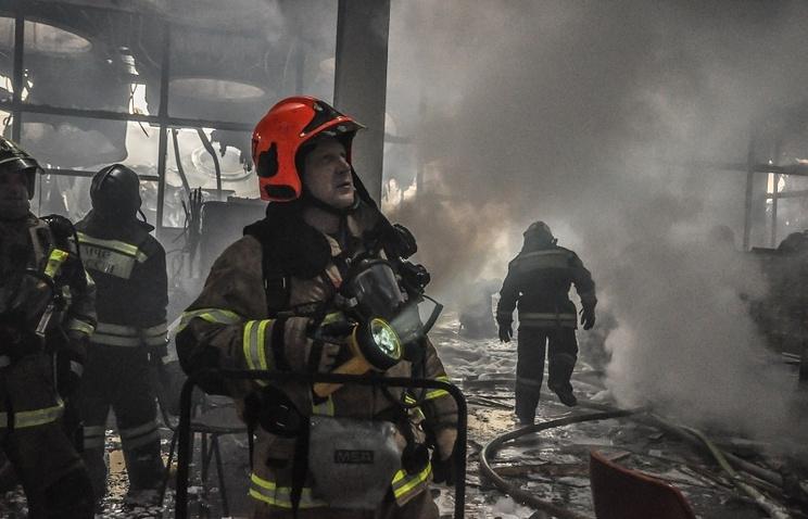 Тушение  пожара в библиотеке ИНИОН