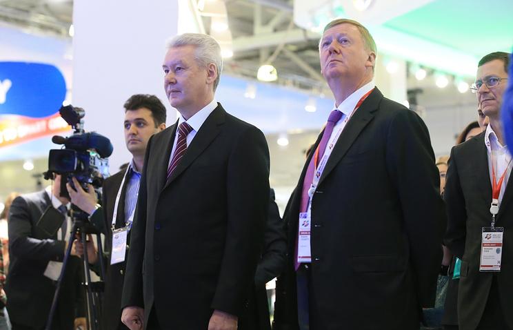 Сергей Собянин и Анатолий Чубайс